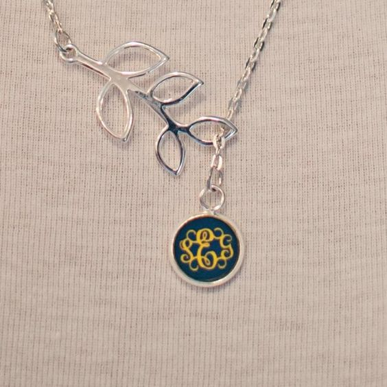 Gonegreek - Branch Engraved Monogram Custom Necklace – Vine Font (1 or 3 Letter) , $38.95 (http://www.gonegreek.com/branch-engraved-monogram-custom-necklace-vine-font-1-or-3-letter/)