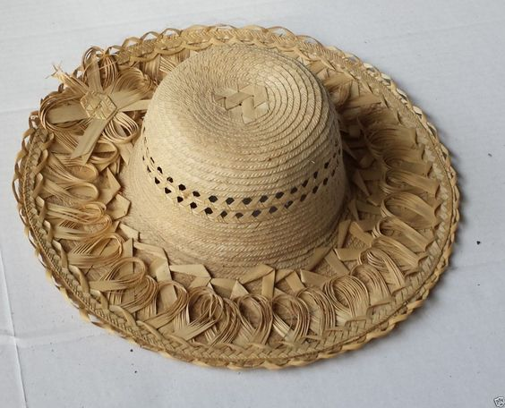 #women hat women straw hat size L (58) natural palm straw made in Guatemala  (014) withing our EBAY store at  http://stores.ebay.com/esquirestore