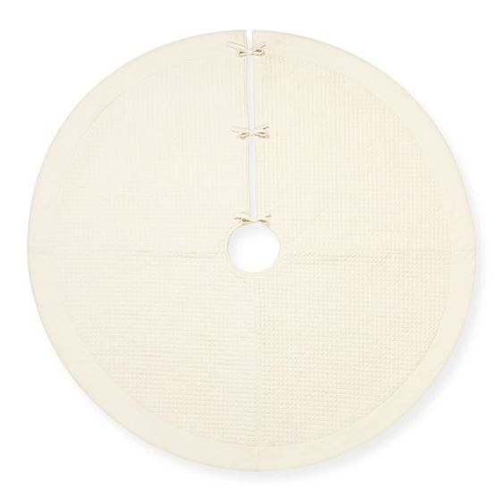 Quilted Velvet Tree Skirt, Ivory: