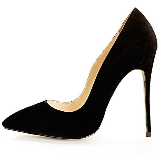 Sophie Black Suede Heeled Stiletto-3 (608.170 IDR) ❤ liked on