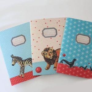3 cahiers de notes circus Froy & Dind. En vente sur http://www.chatfoin.com
