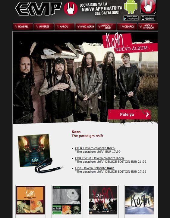 #korn el nuevo album The paradigm shift - #metal #musica Disponible en #empspain desde 04.10.2013 - Reserva hoy!!