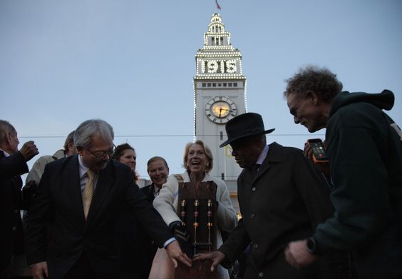 "San Francisco recently did something it hasn't done in a century: flipped the switch on giant  lights blazing the year ""1915"" on the tower of its landmark Ferry Building."
