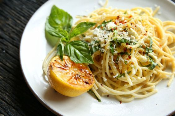 ... to pasta night. Get the recipe: Lemon Spaghetti with Feta and Basil