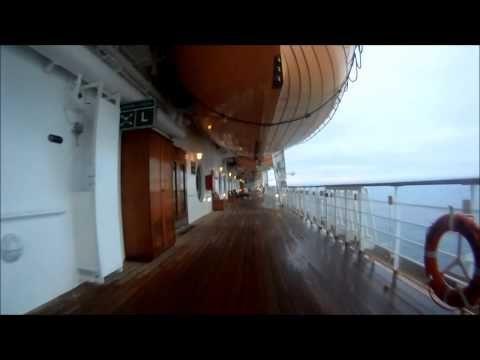 Disney Wonder Cruise Ship GoPro Lap On The Jogging Track Disney - Track disney cruise ship
