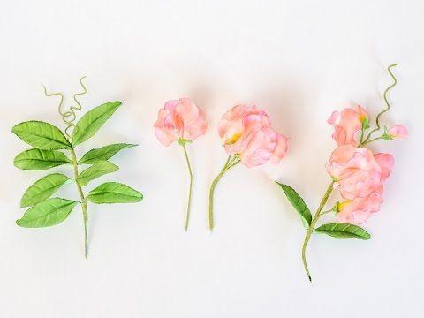 Sweat Pea Tutorial - Edelwicken aus Blütenpaste können sowohl als Filler flowers für aufwändige Gestecke eingesetzt werden als auch als zauberhafte Rankpflanzen. #tutorial #video #gumpaste #sugarflowers