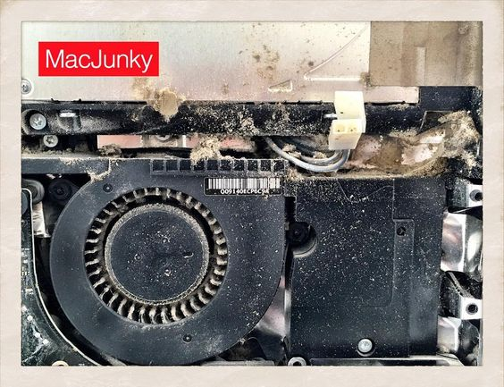 Clean out your Mac if you have a lot of dust inside