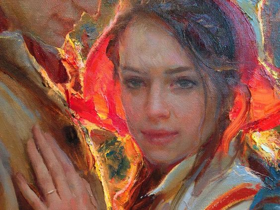 """Detail of painting """" Home Coming"""". By Daniel Gerhartz"""