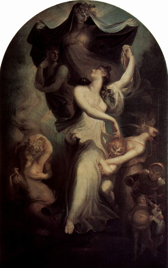 Euphrosyne before the Imagination and the Temperance. Henry Fuseli (1800)