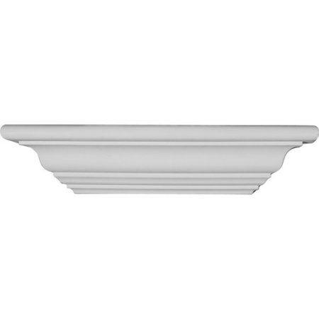Ekena Millwork Mini Classic 2 5/8''H x 12''W x 3 1/8''D Shelf, White
