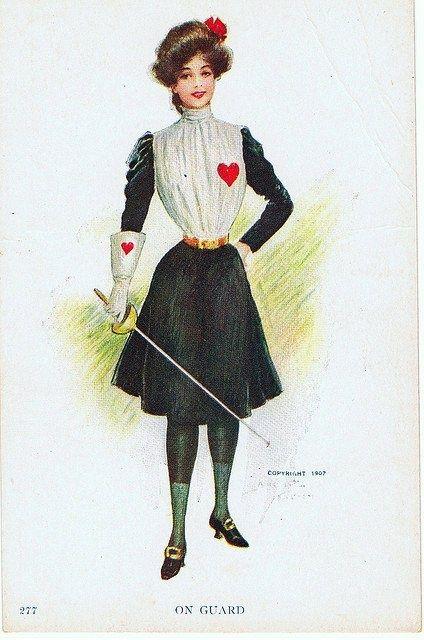 Edwardian Valentine beauty 1907