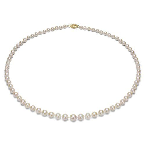 """14k Yellow Gold 4-7.5mm White Round Graduated Cultured Freshwater Pearl 18"""" Necklace. La Regis Pearl & Gemstones. $99.99. Perfect for all Occassions. Perfect Valentine's Day Gift. Save 85% Off!"""