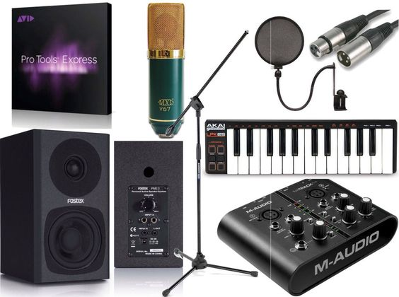 Awe Inspiring Mtrack Plus Pro Tools Express Home Recording Studio Package Bundle Largest Home Design Picture Inspirations Pitcheantrous