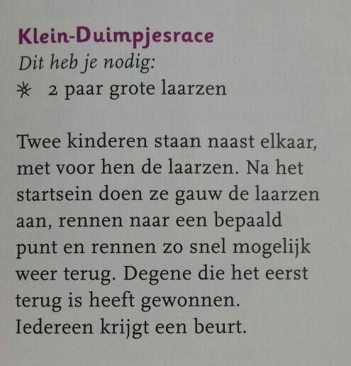 Gym: klein duimpje race! Kinderfeestje idee! Niet iedere verjaardag is een feestje! www.stichtingjarigejob.nl