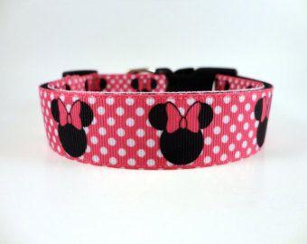 Rosa Disney Minnie Maus-Hundehalsband von Elsiepupz auf Etsy