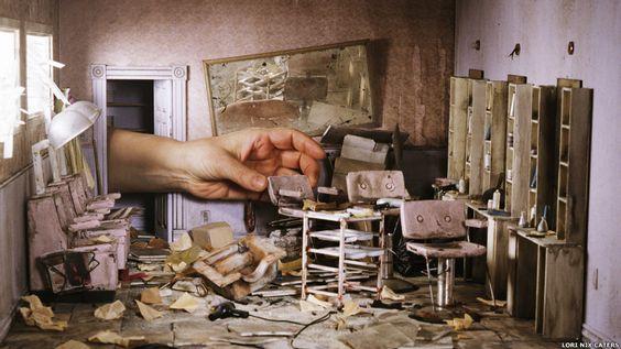by Lori Nix. Artista cria miniaturas detalhadas de mundo pós-apocalipse