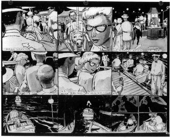Storyboards For Alfred HitchcockS Strangers On A Train By Ted