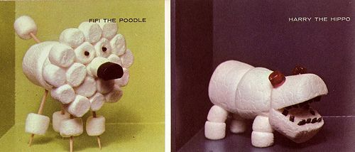 Marshmallow Favors How-To: Fifi the Poodle and Harry the Hippo
