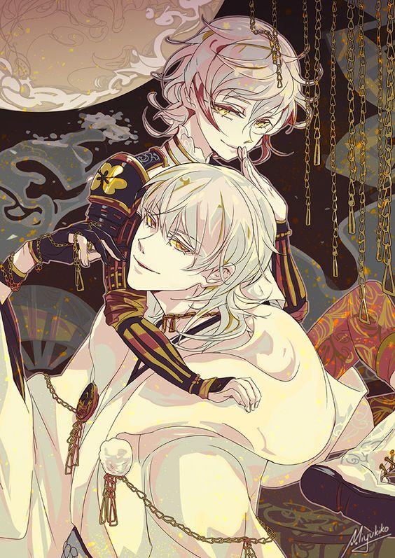 Monoyoshi Sadamune and Tsurumaru Kuninaga by Miyukiko on DeviantArt