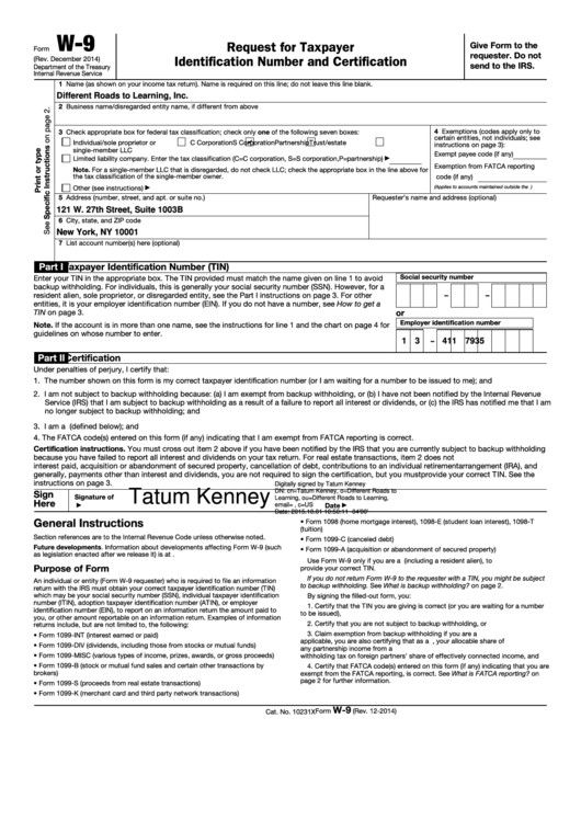 W9 Form Download Fillable Form W 9 Request For Taxpayer Identification Fillable Forms Job Application Template Business Letter Template