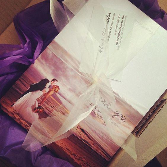 Beautiful Thank You Cards! #beautiful #wedding #weddingstationery #graphicdesign #perfectmatch #aboxfullofmatches