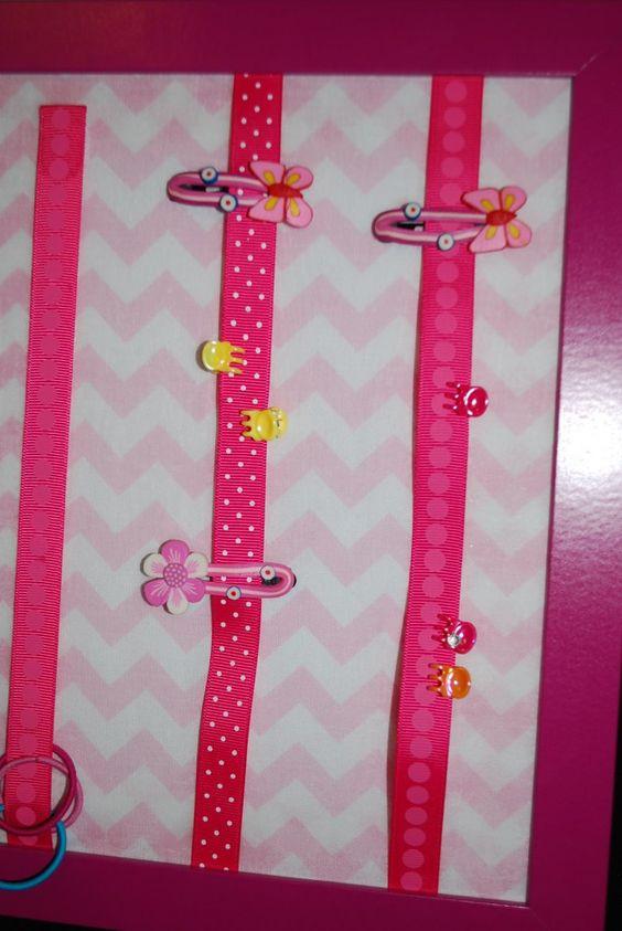 DIY present for girls: No Sew Hair Clip Holder - Sew Adorable Fabrics
