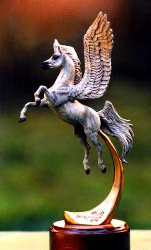 """Le Cheval Volant"" limited edition bronze by Hallelujah Bronze."