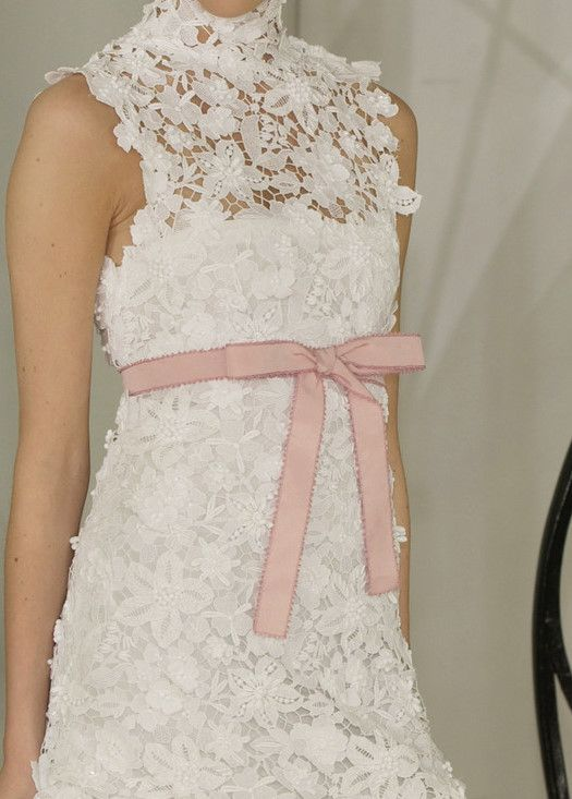 So pretty  #Chanel lace dress pink bow