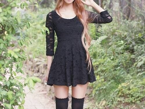 black dress,cute outfit