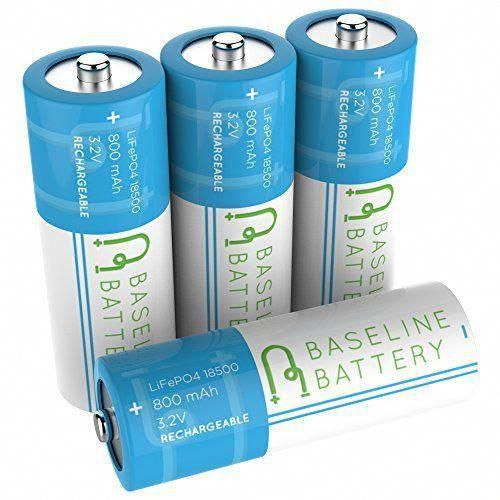 4 Baseline Battery 800 Mah Ifr 18500 3 2v Lifepo4 Lithium Phosphate Rechargeable Batteries Solar Garden Light Solar Battery Battery Lights Repair