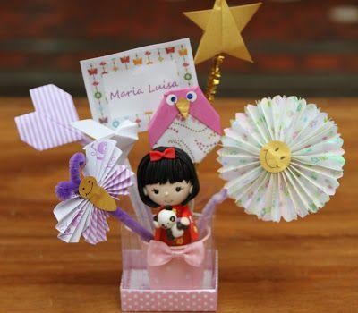 lembrançs de maternidade em origami