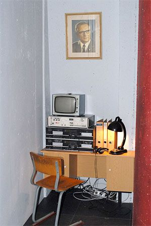Die Stasi-Ecke.  The Stasi corner.  Peeping the people's lives