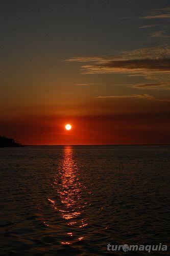 Sunset in Rio Preguiça - Maranhão - Brazil