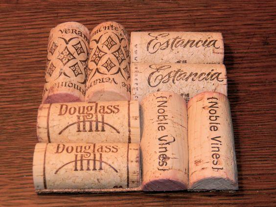 Wine Cork Coasters  #DIY #crafts #wine