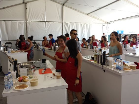 Participants in Metro Ontario Master Class at Taste of Toronto 2016 led by Chef Anthony Rose