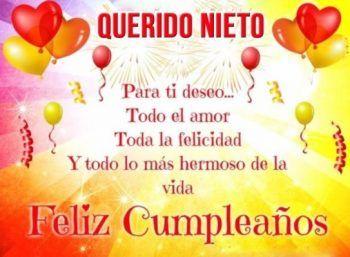 Tarjetas De Feliz Cumpleaños Para Un Nieto Dulce Frases De Feliz Cumpleaños Tarjetas De Feliz Cumpleaños Dedicatorias De Feliz Cumpleaños