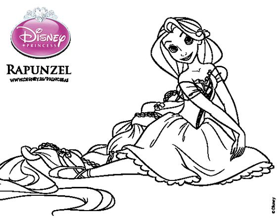 Dibujo de Enredados - Rapunzel para colorear ...
