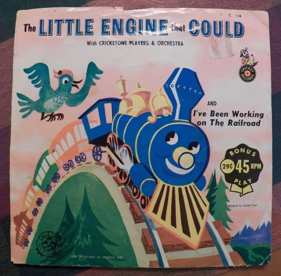 Vintage Happy Time 45 rpm Record by Cricket RecordsThe LITTLE ENGINE That COULD