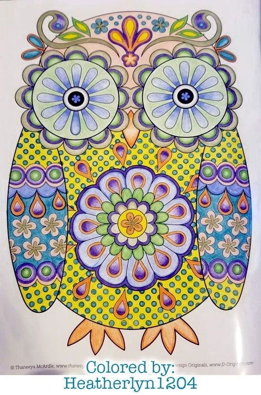 Groovy Owl Coloring Page From Thaneeya Mcardle S Think Happy Coloring Book Owl Coloring Pages Dream Catcher Coloring Pages Coloring Books