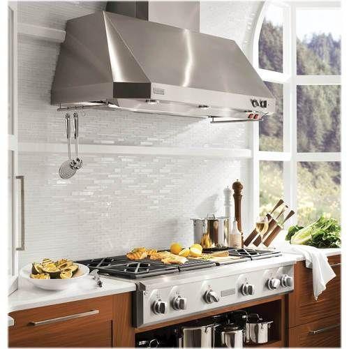 Monogram 48 Externally Vented Range Hood Stainless Steel Zv48tsfss Best Buy In 2021 Stainless Range Hood Range Hood Luxurious Kitchens