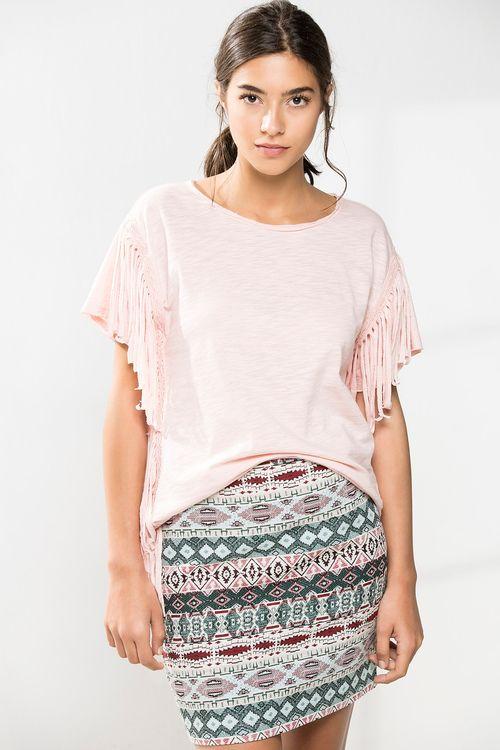 CAMISETA DE FLECOS » Camisetas » Mujer » Cortefiel