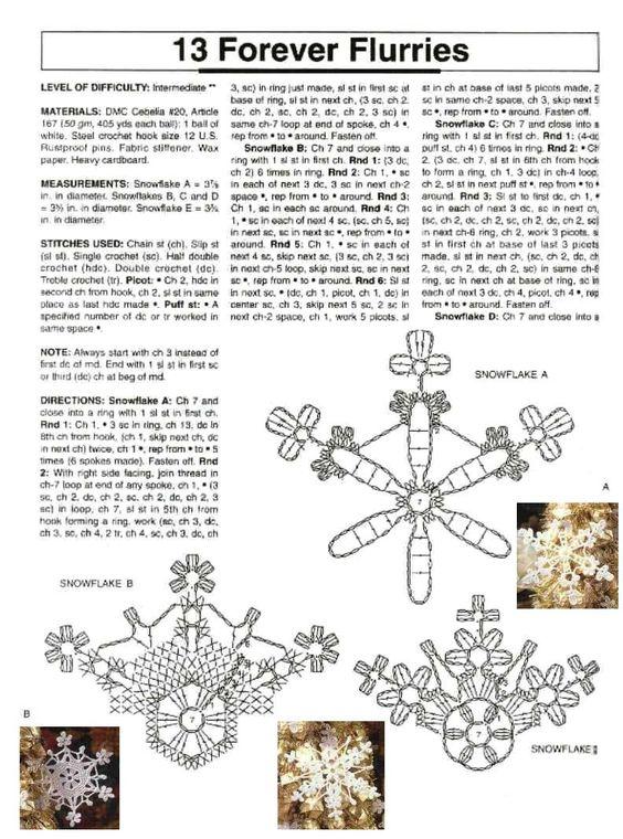Esquemas de copos de nieve sexycrochet com crochet - Esquema punto estrella crochet ...