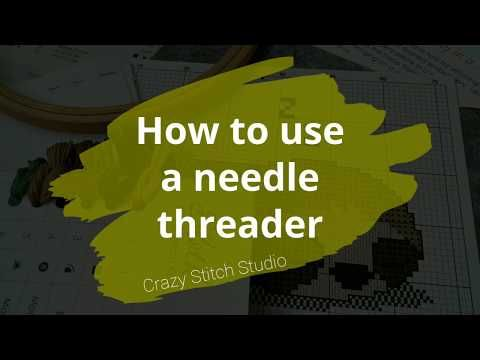 How To Use A Needle Threader Embroidery Handembroidery Howtouse Tutorial Needlethreader Needle Threaders Cross Stitch Funny Hand Embroidery Tutorial