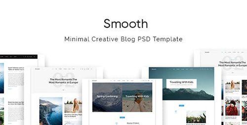 Themeforest Smooth Minimal Blog Psd Template Free Download Shablony Publikacii