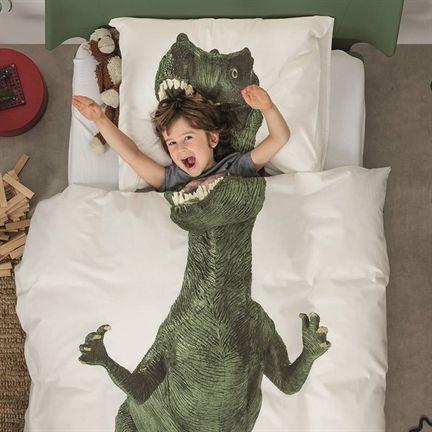 coberta e lençol de dinossauro
