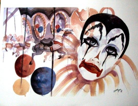 Limited Edition Print of Clown  by Donna Allen by bigapple60