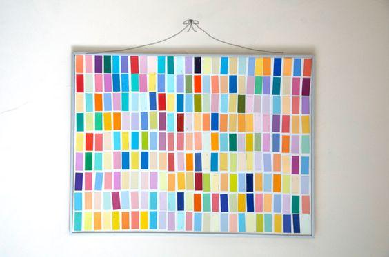 Tableau chantillon de peinture idees deco diy pinterest blog art et c - Echantillon de peinture pour la maison ...