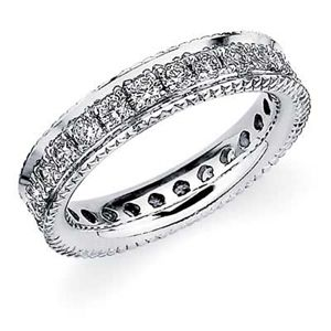 prong in channel eternity ring