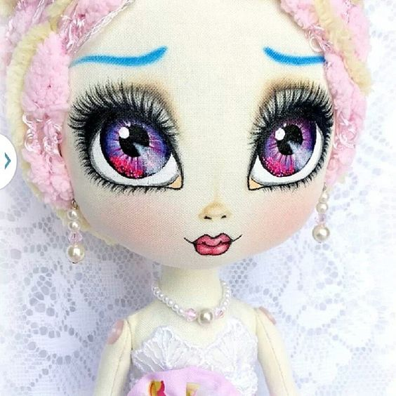 Lavinia closeup #clothdoll #artdoll #dolls