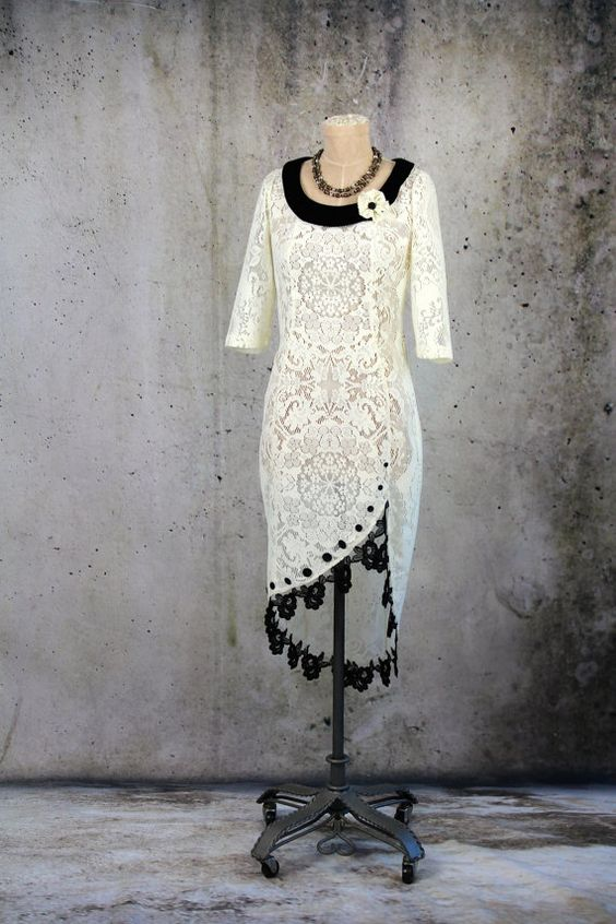Chic Lace Victorian Fairy Wedding Dress Gown by LaineeLee on Etsy